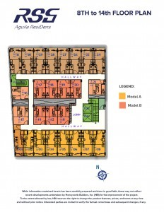 RSG St. Scho ResiDens 8th to 14th floor plan