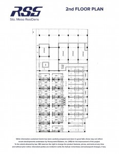 RSG St. Scho ResiDens 2nd floor plan