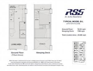 RSG St. Scho ResiDens floorplan B-L