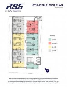 RSG St. Scho ResiDens floor plan typical floors