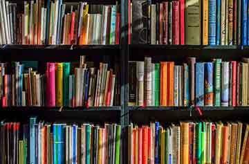 image of bookshelves