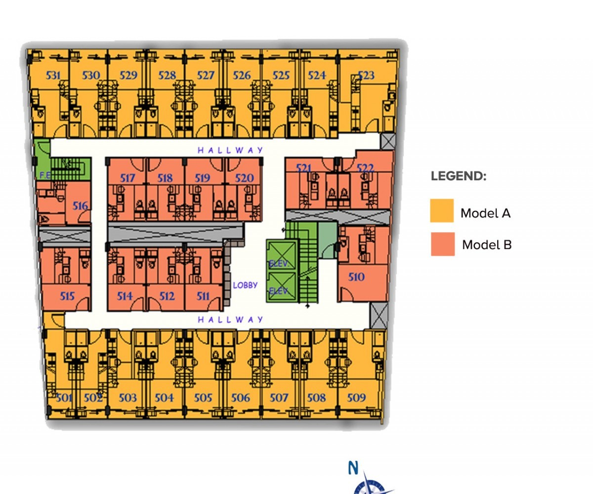 Image of RSG Aguila ResiDens 5th Floorplan