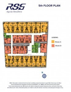 RSG Aguila ResiDens 5th Floorplan