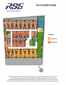 RSG Aguila ResiDens 7th Floorplan - Swimming Pool