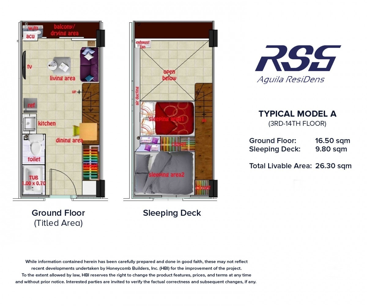 Image RSG Aguila ResiDens Typical Model A Floorplan