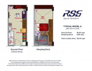 RSG Aguila ResiDens Typical Model A Floorplan