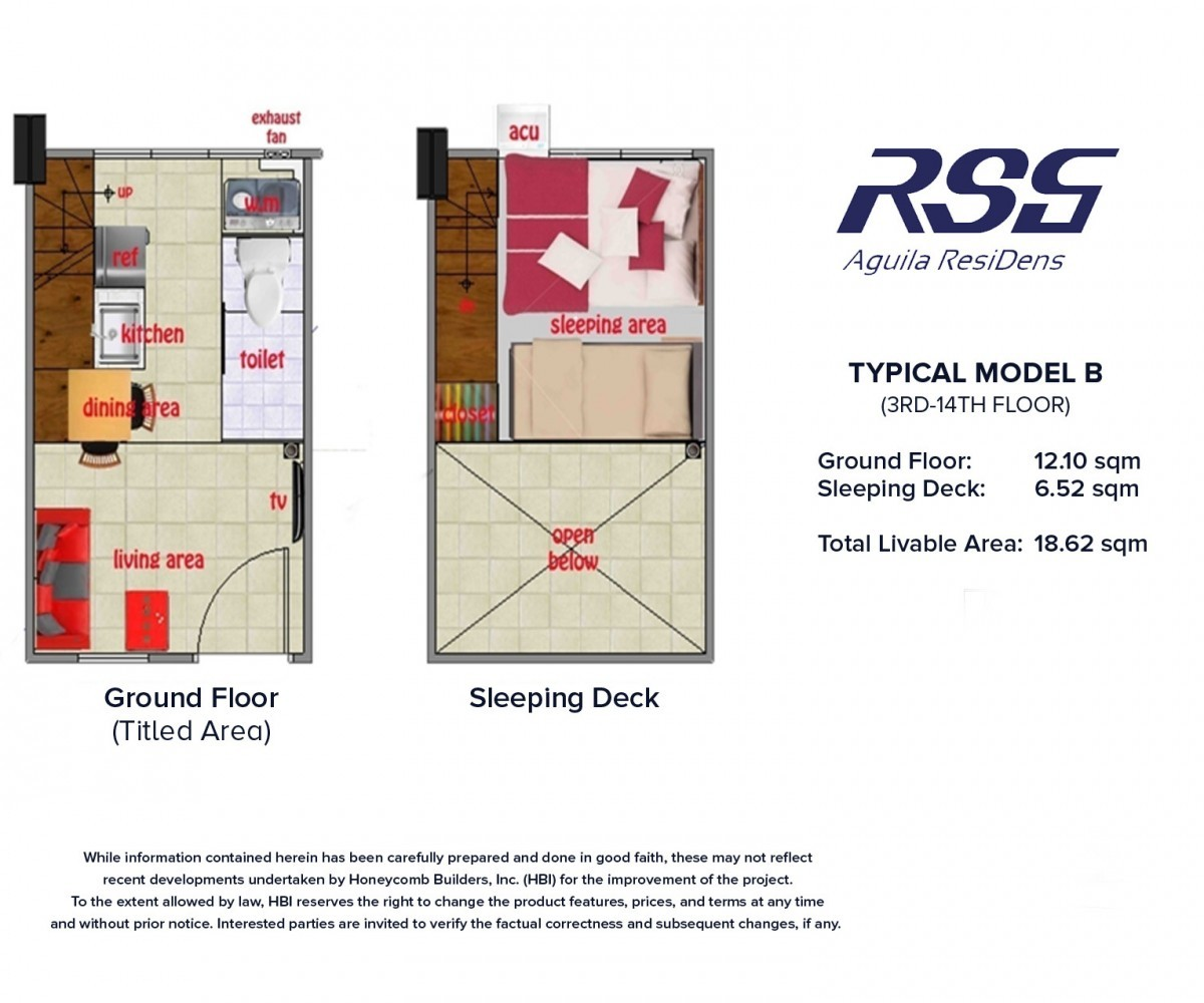 Image of RSG Aguila ResiDens Typical Model B Floorplan