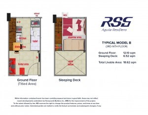 RSG Aguila ResiDens Typical Model B Floorplan