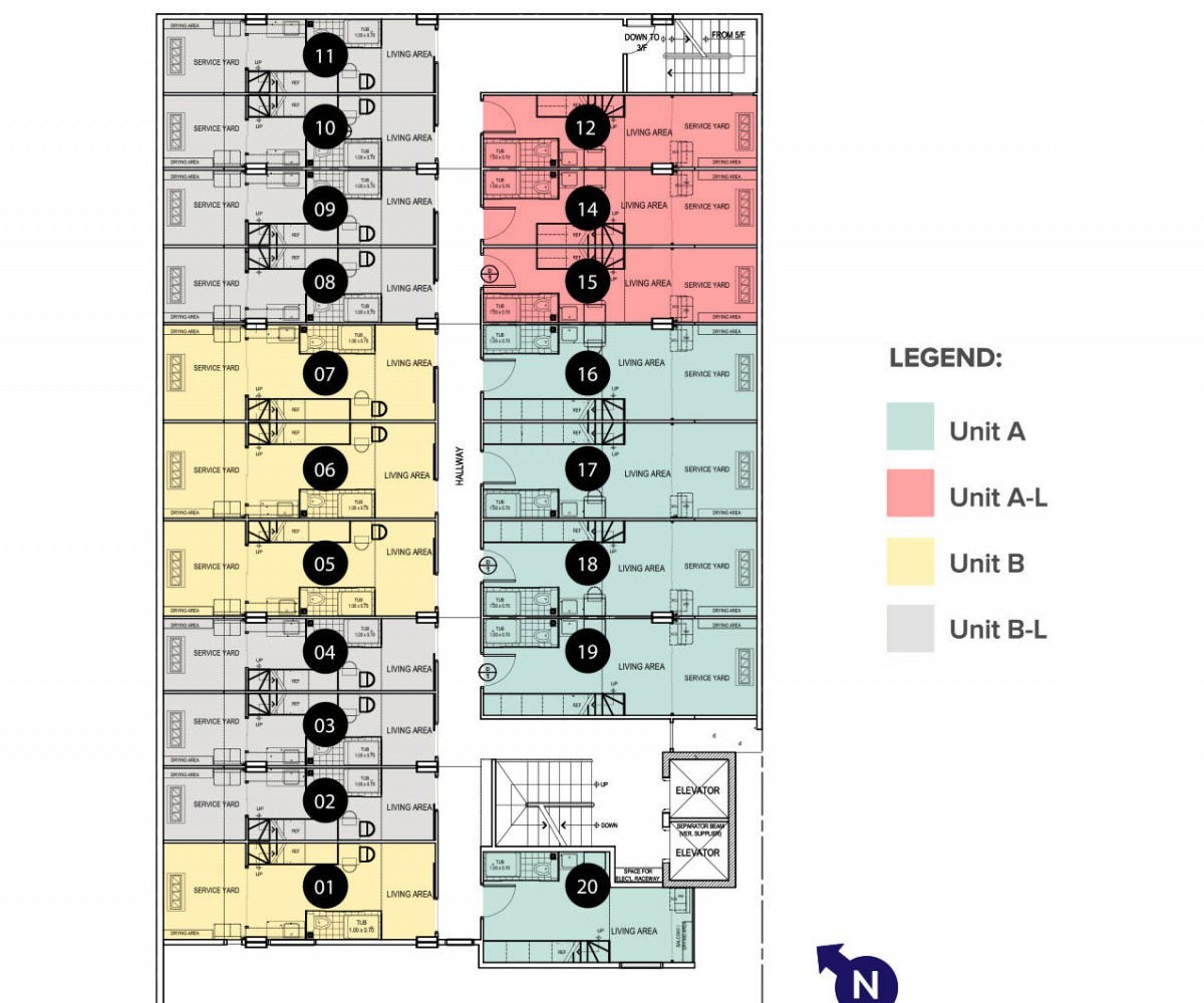 Image of RSG St. Scho ResiDens 5th floorplan