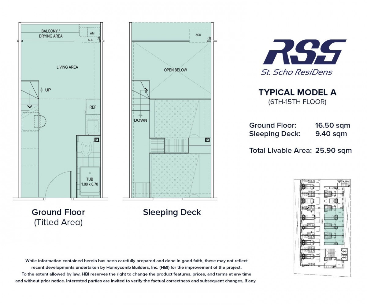 Floorplan RSG St. Scho ResiDens Typical Model A Unit