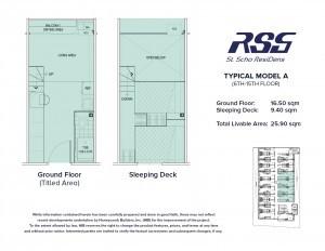 RSG St. Scho ResiDens Typical Model A Unit Floorplan