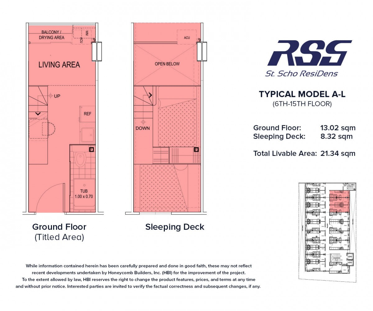 Floorplan RSG St. Scho ResiDens Typical Model A-L Unit