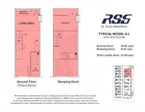 RSG St. Scho ResiDens Typical Model A-L Unit Floorplan