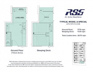 RSG St. Scho ResiDens Typical Model A-Special Unit Floorplan