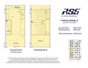 RSG St. Scho ResiDens Typical Model B Unit Floorplan