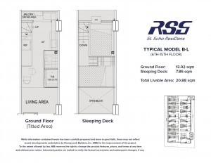Floorplan of RSG St. Scho ResiDens Typical B-L Unit