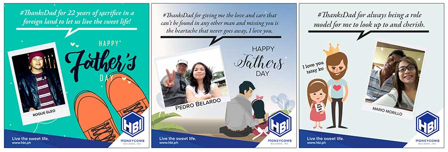 Winning Entries for the HBI #thanksdad Photo Contest