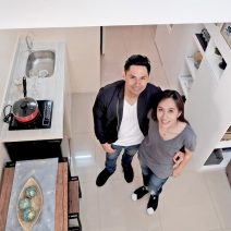 Fully furnished 2 bedroom loft condos in Metro Manila living room